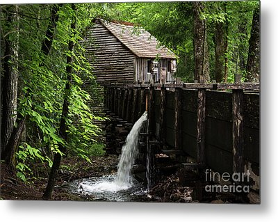 Cable Grist Mill Metal Print by Andrea Silies