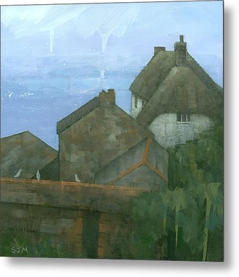 Cadgwith Rooftops Metal Print by Steve Mitchell