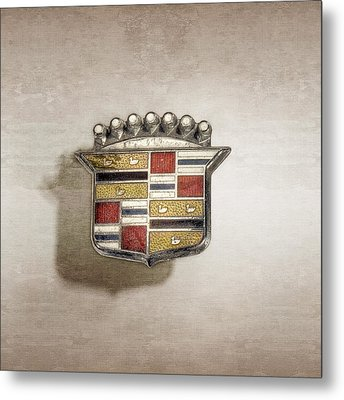 Cadillac Badge Metal Print by YoPedro