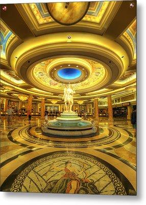 Caesar's Grand Lobby Metal Print by Yhun Suarez