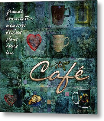 Cafe Metal Print by Evie Cook