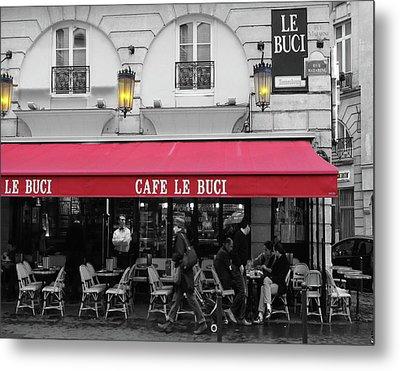 Cafe Le Buci Metal Print by Tom Reynen