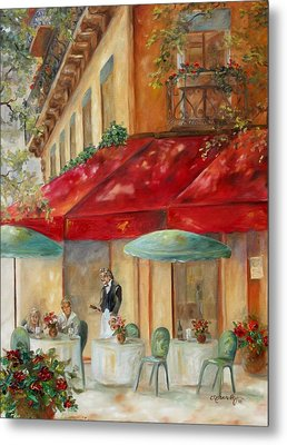 Cafe' Paris Metal Print by Chris Brandley