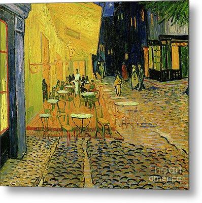 Cafe Terrace, Place Du Forum, Arles, 1888  Detail Metal Print by Vincent Van Gogh