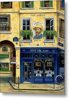 Cafe Van Gogh Metal Print