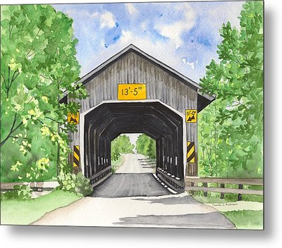 Caine Road Bridge Metal Print