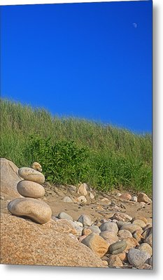 Cairn Dunes And Moon Metal Print