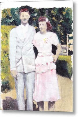 Caits Mom And Dad Metal Print by David Poyant