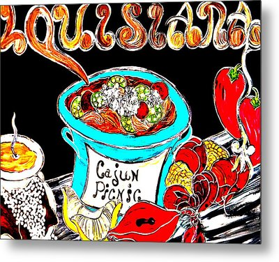Cajun Picnic No.2 Metal Print by Amy Carruth-Drum