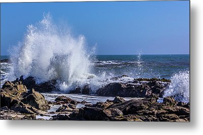 Cal Coast Wave Crash 3 Metal Print