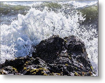 Cal Coast Wave Crash 4 Metal Print