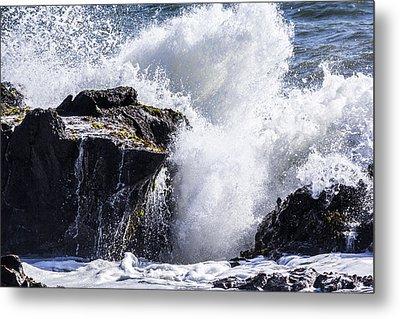 Cal Coast Wave Crash 6 Metal Print