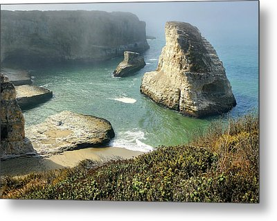 Cali Coast Shark Fin Cove 3 Metal Print