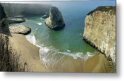 Cali Coast Shark Fin Cove 4 Metal Print