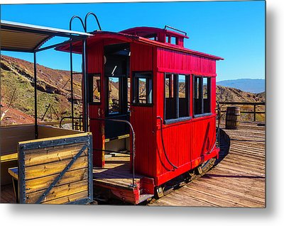 Calico Caboose Metal Print by Garry Gay