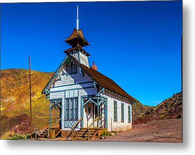 Calico School House Metal Print by Garry Gay