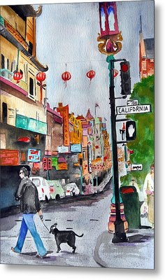 California Chinatown  Metal Print by Julie Lueders
