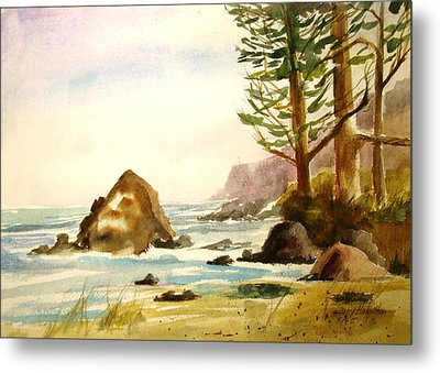 California Coast Metal Print by Larry Hamilton