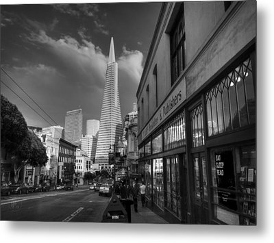 Metal Print featuring the photograph California - San Francisco 009 Bw by Lance Vaughn