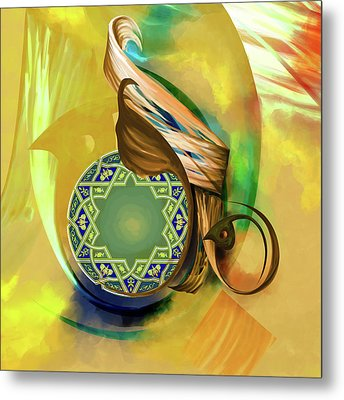 Calligraphy 31 8 1 Metal Print by Mawra Tahreem