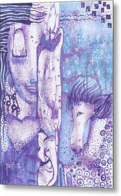 Calling Upon The Spirit Animals Metal Print by Prerna Poojara