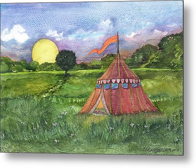 Calliope's Tent Metal Print by Casey Rasmussen White