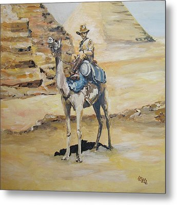 Camel Corp At Ease Metal Print by Leonie Bell