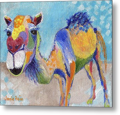 Metal Print featuring the painting Camelorful by Jamie Frier