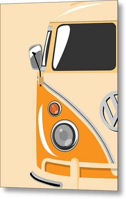 Camper Orange Metal Print by Michael Tompsett