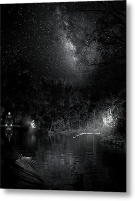 Metal Print featuring the photograph Campfires On Milky Way River by Mark Andrew Thomas