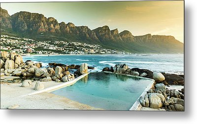 Camps Bay At Dusk Metal Print by Tim Hester