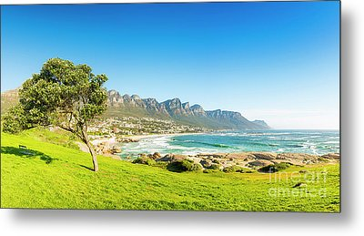 Camps Bay In Cape Town, South Africa Metal Print by Tim Hester