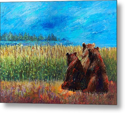 Can You See Whats Going On... Metal Print by Arline Wagner