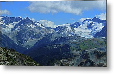 Metal Print featuring the photograph Canadian Glacier Summer Time by Walter Fahmy