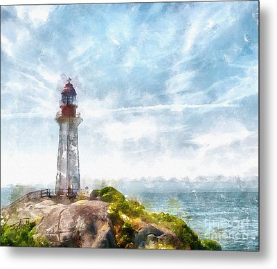 Canadian Lighthouse Metal Print by Shirley Stalter