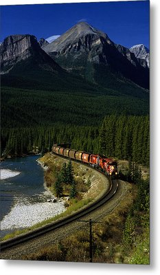 Canadian Railroad Metal Print by Susan  Benson