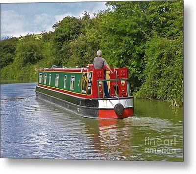 Canal Boat Metal Print by Terri Waters