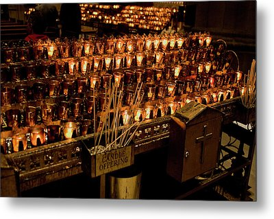 Candle Offerings St. Patrick Cathedral Metal Print