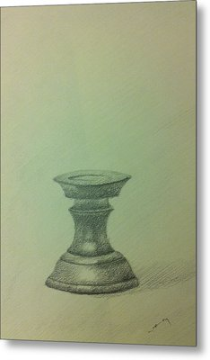 Candle Stand Study Metal Print by Krishnamurthy S