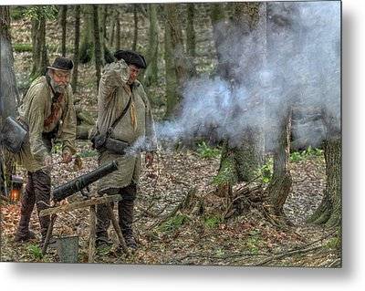 Cannon In The Forest Metal Print by Randy Steele