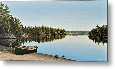 Canoe The Massassauga Metal Print by Kenneth M  Kirsch