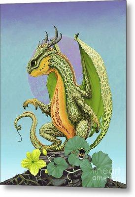 Cantaloupe Dragon Metal Print by Stanley Morrison