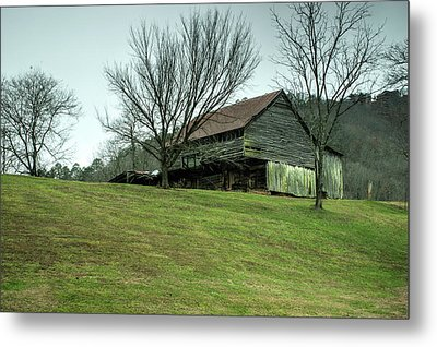 Cantilever Barn Sevier County Tennessee Metal Print by Douglas Barnett