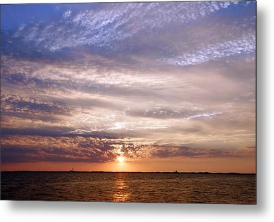 Cape Cod Bay And Sky Metal Print