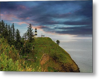 Cape Disappointment After Sunset Metal Print by David Gn