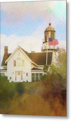 Cape Elizabeth Lighthouse 2 Metal Print by Terry Davis