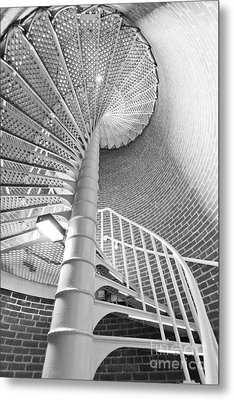 Cape May Lighthouse Stairs Metal Print