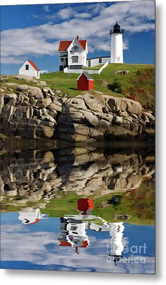 Cape Neddick Reflection - D003756a Metal Print by Daniel Dempster