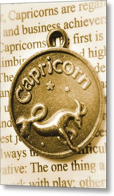 Capricorn Zodiac Lucky Charm Metal Print by Jorgo Photography - Wall Art Gallery