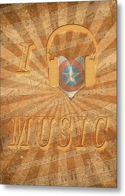 Metal Print featuring the painting Captain America Lullaby Original Digital by Georgeta Blanaru